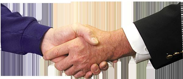 affärsavtal anställning handslag